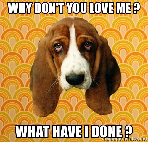 SAD DOG - WHY DON'T YOU LOVE ME ? WHAT HAVE I DONE ?