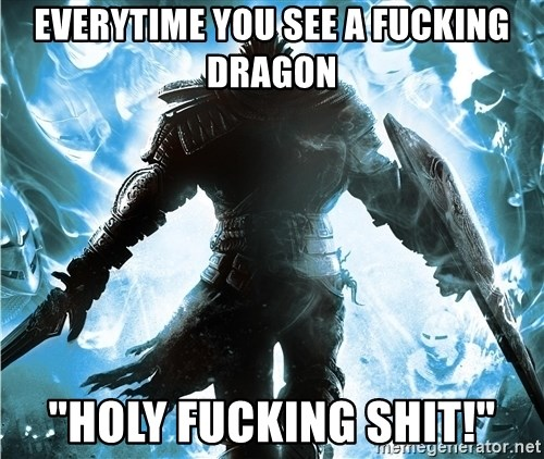 "Dark Souls Dreamagus - everytime you see a fucking dragon ""holy fucking shit!"""
