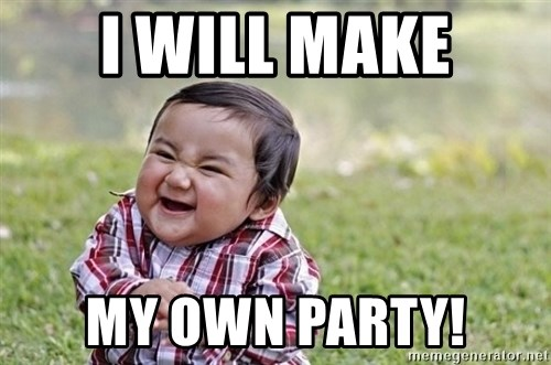 evil asian plotting baby - I will make my own party!