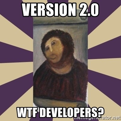 Retouched Ecce Homo - version 2.0 wtf developers?