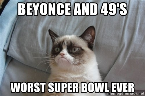 Grumpy cat good - BeyonCe and 49's Worst Super Bowl ever
