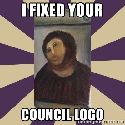 Retouched Ecce Homo - I fixed your council logo