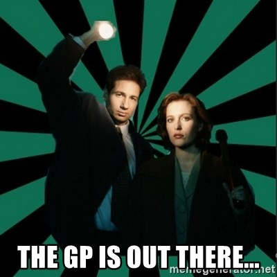 """Typical fans """"The X-files"""" -  THE GP IS OUT THERE..."""