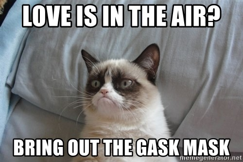 Grumpy cat good - Love is in the air? Bring out the gask mask