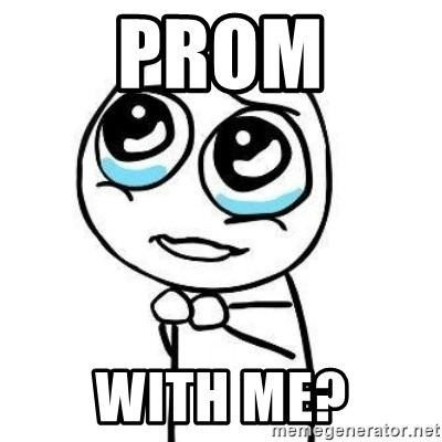 Please guy - PROM WITH ME?