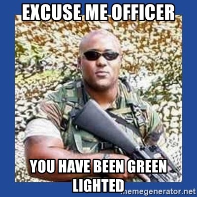 chocolate rambo - excuse me officer you have been green lighted