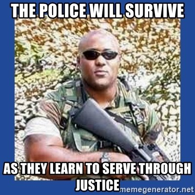 chocolate rambo - the police will survive as they learn to serve through justice