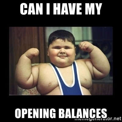 Fat kid - Can I have my opening balances