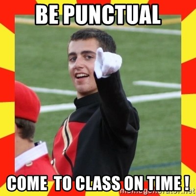 lovett - bE PUNCTUAL COME  TO CLASS ON TIME !