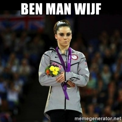 Unimpressed McKayla Maroney - BEN MAN WIJF
