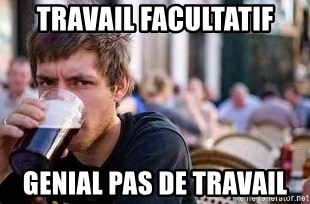 The Lazy College Senior - Travail facultatif Genial pas de travail