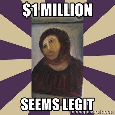 Retouched Ecce Homo - $1 MILLION SEEMS LEGIT