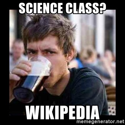 Bad student - Science class? wikipedia