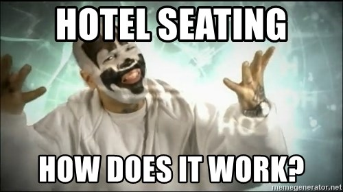 Insane Clown Posse - HOTEL SEATING HOW DOES IT WORK?