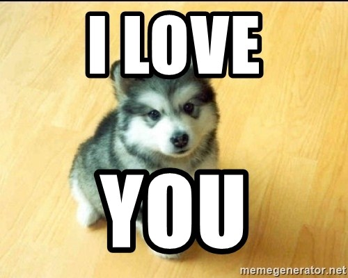 Baby Courage Wolf - I Love you