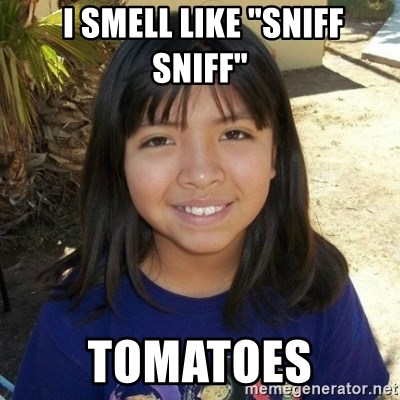 "aylinfernanda -  I SMELL LIKE ""SNIFF SNIFF"" TOMATOES"