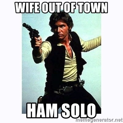 Han Solo - Wife out of town Ham solO
