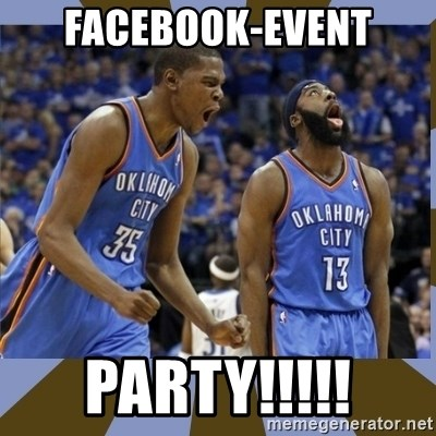 Durant & James Harden - facebook-event party!!!!!