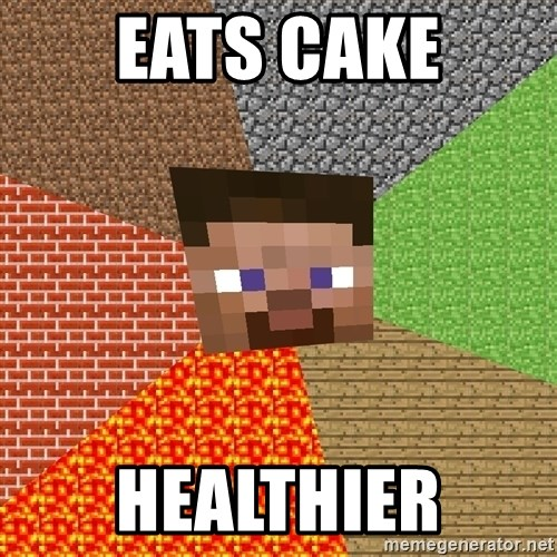 Minecraft Guy - Eats cake Healthier