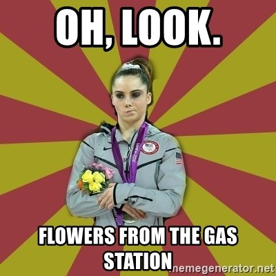 Not Impressed Makayla - oh, look.  flowers from the gas station