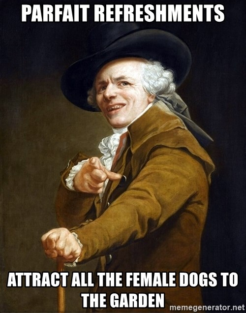 Joseph Ducreaux - parfait refreshments attract all the female dogs to the garden