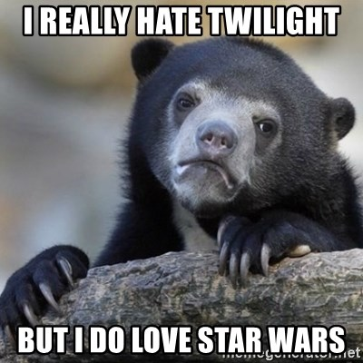 Confessions Bear - I really hate twilight but i do love star wars