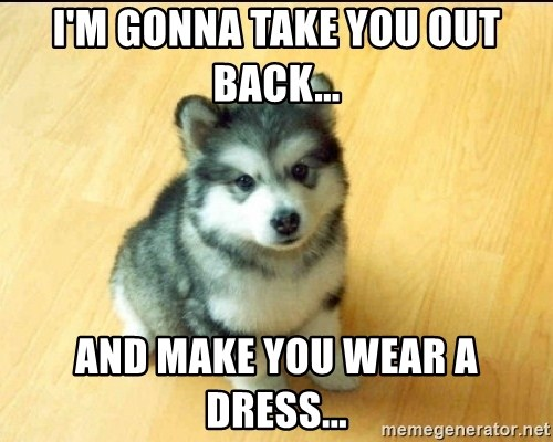 Baby Courage Wolf - I'm gonna take you out back... And make you wear a dress...