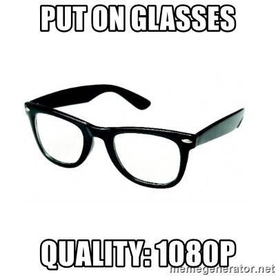 hipster glasses - put on glasses QUALITY: 1080p