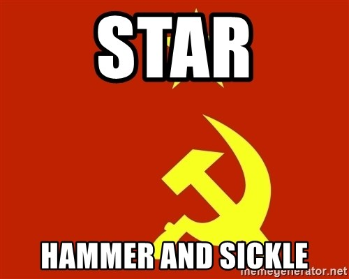 In Soviet Russia - star hammer and sickle