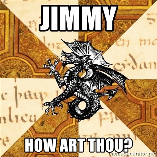 History Major Heraldic Beast - Jimmy how art thou?