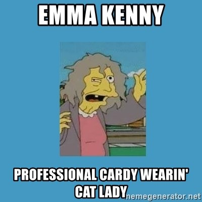 crazy cat lady simpsons - Emma kenny ProfessionAl cardy wearin' cat lady