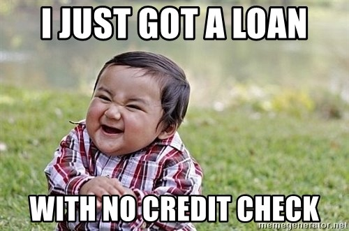 Evil Asian Baby - I just got a loan with no credit check