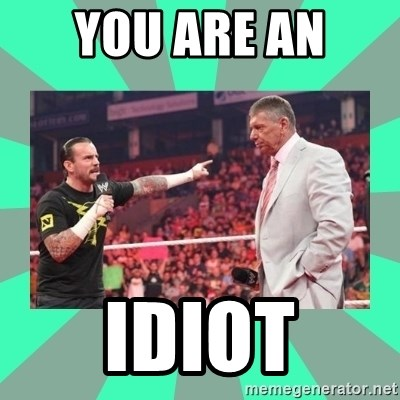 CM Punk Apologize! - YOU ARE AN  IDIOT