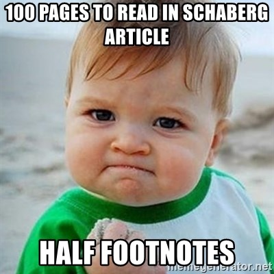 Victory Baby - 100 pages to read in schaberg article half footnotes