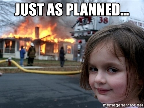 Disaster Girl - Just as planned...