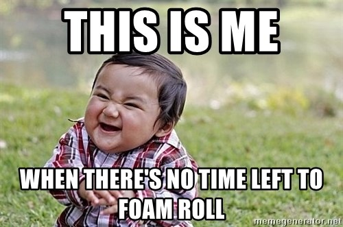 Evil Asian Baby - This is Me  When there's no time left to foam roll