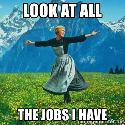 Julie Andrews looking for a fuck to give - Look at all The jobs I have