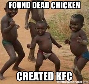 african children dancing - FOUND DEAD CHICKEN CREATED KFC