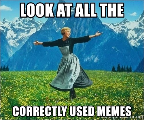 Look at all the things - look at all the correctly used memes