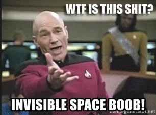 Patrick Stewart WTF -  invisible space boob!