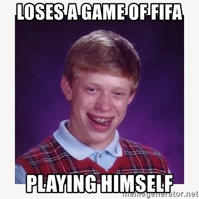 nerdy kid lolz - LOSES A GAME OF FIFA PLAYING HIMSELF