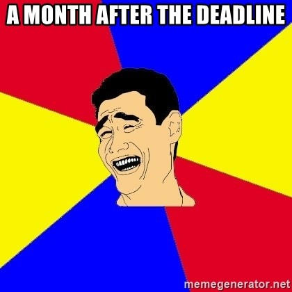 journalist - a month after the deadline