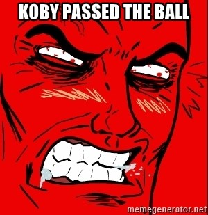 Rage Face - koby passed the ball