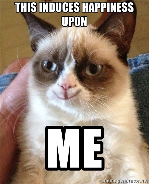 Grumpy Cat Happy Version - this induces Happiness upon me