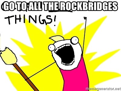 clean all the things - go to all the rockbridges