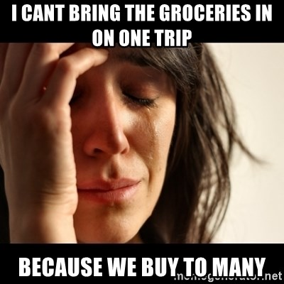 crying girl sad - I CANT BRING THE GROCERIES IN ON ONE TRIP BECAUSE WE BUY TO MANY