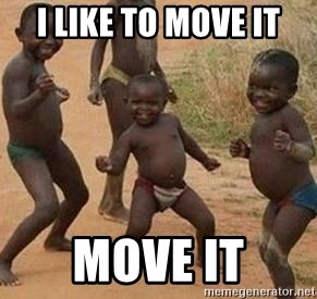 african children dancing - I LIKE TO MOVE IT MOVE IT