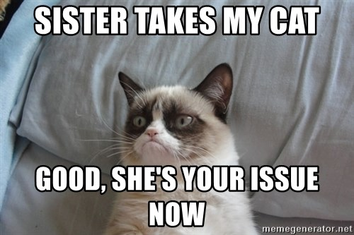 Grumpy cat good - Sister Takes My cat Good, She's your issue now