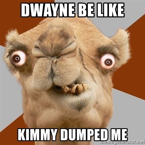 Crazy Camel lol - DWAYNE BE LIKE  KIMMY DUMPED ME