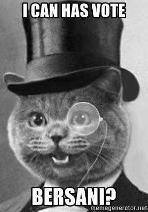 Monocle Cat - i can has vote bersani?
